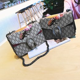 Wholesale Designer Bag Leather Satchel - woman famous brand leather handbags china fashion Embroidery bee bags women crossbody evening party bags luxury designer handbag bag