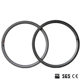 Wholesale 38mm Carbon Clincher Rims - DIY Decals Accepted 700C 38mm Depth 23mm Width Carbon Bike Rims Clincher Tubular 3K Matt Finish 415g-445g Full Carbon Bicycle Rim
