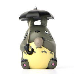 Wholesale Umbrella Dolls - Mini Totoro figure with umbrella toy New my neighbor totoro action figurens doll juguete Christmas gift party decor mini garden accessories