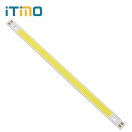 Wholesale Cree Led Lighting Strip Lights - Wholesale- 200 x 10MM COB LED Strip Lights for DIY High Quality 12V 10W 1000LM Super Bright Replacement Lamps Warm White   Pure White