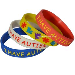 Wholesale Halloween Jelly - 50PCS Lot I have Autism Silicone Bracelet for Kids, What Better Way To Carry The Message Than With A Daily Reminder