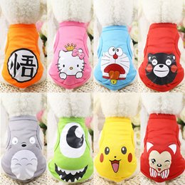 Wholesale Dog Winter Cartoon - 11 Colors Summer Cute Breathable Dog Vest Cartoon Small Animals Dog Vest Teddy Dog Puppy Clothes Pet Shirt Roupa Para Garment