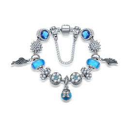 Wholesale Snake Chain Model Gold - 2016 New model high quality glass charms big beads bracelets bangle