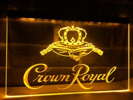Wholesale Crown Derby - LE104b- Crown Royal Derby Whiskey NR beer Bar LED Light Sign