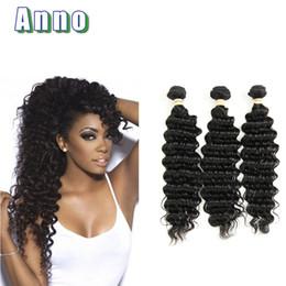Wholesale Colors News - ANNO 2017 News Hair Deep Wave Malaysian Virgin Hair 3 Bundles Unprocess 8a Virgin Hair Meches Bresilienne Lots Fashion
