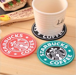 Wholesale Cups Mats - For 2017 new Silicone Coasters Cup thermo Cushion Holder Starbucks sea-maid coffee Coasters Cup Mat