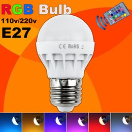 Wholesale Led Low Price - Low price RGB LED Lamp E27 5W LED Bulb RGB Soptlight 85-265V Energy Saving 16 Color Change LED Lampara With IR Remote Brand NEW