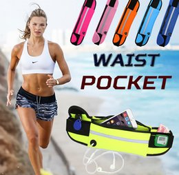 Wholesale Soccer Bag Wholesale - Universal 4.7 inch Waterproof Sports Running Waist Pocket Pouch Belt Case Bag For iPhone 7 Plus 6 6S 5 5S Samsung Galaxy S7 edge S6 Note 5