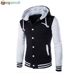 Wholesale Varsity Jackets Hoodie - Wholesale-New Hoodies Baseball Jacket Men sweatshirt Varsity Jacket masculino Men Slim Fit Brand Stylish College Jacekt Veste Homme WT055