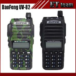 Wholesale Portable Transceivers Vhf Uhf - Wholesale- New Baofeng UV-82 walkie talkie uv 82 Portable Radio With Earphone CB Ham Radio Vhf Uhf Dual band UV82 radio Two-way Transceiver