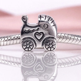 Wholesale Pandora Carriage - Authentic 925 Sterling Silver Baby carriage Charm Fit DIY Pandora Bracelet And Necklace 790346