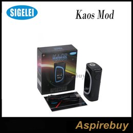 Wholesale Big Led Display - Sigelei Kaos Spectrum Box Mod 230W Fit 2*18650 Battery 0.96TFT Big Oled Display Vape Mod 6 Changeable LED Color Bar E Cig Mod 100% Original
