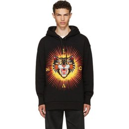 Wholesale Printed Hoodie Tiger - luxury brand embroidery tiger hoodies for men autumn letter print love sun hoodies men fashion long sleeve male hoodies free shipping