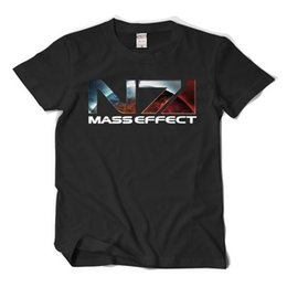 Wholesale Military Tees - N7 Mass Effect 3 T-Shirt Systems Alliance Military Emblem Game Tee Unisex Summer Short Sleeve T Shirts Hip Hop Tops