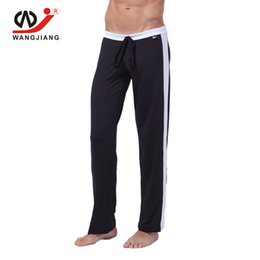 Wholesale Sexy Tracksuit Men - Wholesale-WJ Tracksuit Men Bottoms Bottom Joggers Men Sweatpants Track Pants Pantalon Homme Milk Silk Men'S Casual Sexy Pants