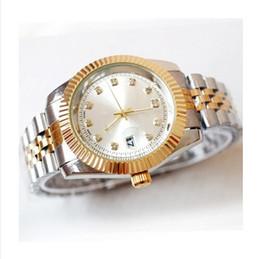 Wholesale Battery Clock Movements - 40MM automatic date luxury fashion men and women of the steel belt movement quartz clock men watch