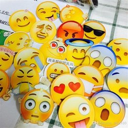 Wholesale Harajuku Pins - Wholesale-Harajuku pins Emoji Badge Acrylic Brooch For Unisex Clothes Badge Decorative Rozet Collar Scarf Lapel Emoji Brooch A0528