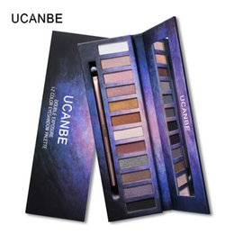 Wholesale Elegant Brush Set - UCANBE 12 Colors Natural Elegant Eye Shadow Practical Matte Eyeshadow Makeup Palette Set With Brush Dhl Free Shipping