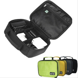 Wholesale S Gadgets - Wholesale- Portable Digital Accessories Gadget Devices Organizer USB Cable Charger Tote Case Storage Bag Travel Organizador IC876933