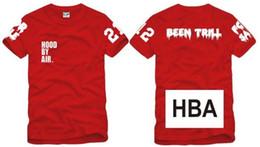 Wholesale Hood Air T Shirt - free shipping summer Tee kids t shirt shirt Hood By Air HBA X Been Trill Kanye children tee 100% cotton