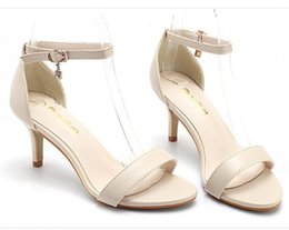 Wholesale Stage Shoes Sexy - Women High Heels Sandals T-Stage Classic Dancing Heeled Sandals Sexy Party Wedding Shoes Footwear Size 34-40
