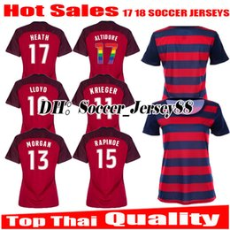 Wholesale Shirt United States Women - Women TOP thai quality 2017 2018 Gold Cup USA soccer jersey 17 18 lady United States PULISIC DEMPSEY BRADLEY ALTIDORE football jersey shirt