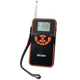 Wholesale 22 Speakers - Wholesale-100% Original degen de-22 radio FM AM FM Stereo Radio Shortwave Digital Display Card MP3 Degen DE22 FM Radio Y4106A free ship