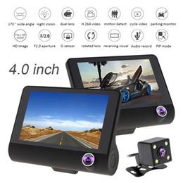 Schermo IPS da 4,0 pollici Full HD 1080P 3-CH Car DVR Registratore di guida Dash Camera G-Sensor Ciclico + Night Vision Telecamera di visione posteriore CAL_30U da la batteria della fotocamera hd nascosta fornitori