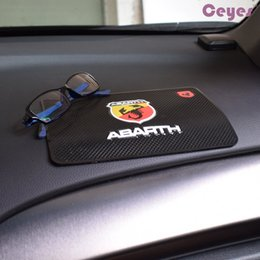 Wholesale Case Fiat - Auto Car Anti-slip Mats Logo Badge Case for Abarth 500 Fiat 850 albea ducato linea idea punto stilo uno