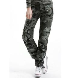 Wholesale Camouflage Sweatpants Women - Women Cotton Military Army Pants 2017 New Camo Pocket Sweatpants Casual Camouflage Pants Pantalon Mujer Plus Size S-2XL