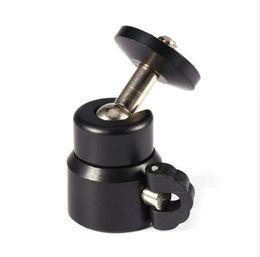 """Wholesale Camera Tripod Dolly - Black Color Metal Mini Ball Head for 1 4"""" Screw Mount Tripod for Dolly DSLR DC Camera DV Camera Accessories"""