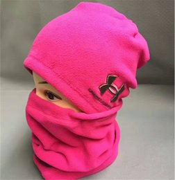 Wholesale Knitted Hats Sale - Brand UA hats scarf Winter under Knitted Hat neck collar Scarves autumn Warm Hedging armor Skull Caps neckerchief Hand Cap christmas sale