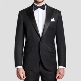 Al por mayor-venta caliente un botón para hombre trajes esmoquin novio  muesca solapa mejor hombre padrino de boda hombres trajes de novia (chaqueta  + ... b8d61107874