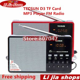 Wholesale Mp3 Free Songs - Wholesale-Hot Sale Tecsun D3 FM Stereo Radio Music MP3 Digital Song Selection TF Card Speaker With Built-In Speaker Free Shipping