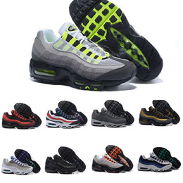 Wholesale Cheap Shoes Colors - 2017 New Colors Maxes 95 Running Shoes For Men,Cheap Maxes 95s OG Sport Shoes Athletic Trainers 95 Sneakers Mens Boots US 7-12