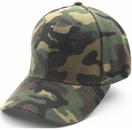 Wholesale red street light - Snapback Outdoor camouflage military training cap lady light board street hip-hop hat baseball hat