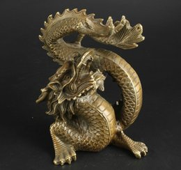 Wholesale Green Handmade Paper - China Collectable Handmade Brass Clear Ward Off Bad Luck Lucky Dragon Statue