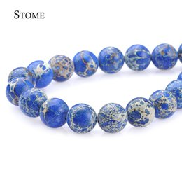 Wholesale Gemstone Loose Beads Sapphire - Loose Natural Sapphire Emperor Pine Round Beads Gemstone 4-12mm Fashion Jewelry Strand For DIY S-012 Stome