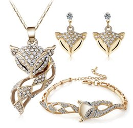 Wholesale Gold Plated Bridesmaids Sets - NEW High Quality !! Sparkle Crystal 18K Gold Plated Jewelry Sets!Bridesmaid Elegant Gold Jewelry For Wedding
