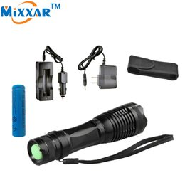 Wholesale Cree Led Torch Focus - LED flashlight Focus lamp LED torch e17 CREE XM-L T6 4000LM Zoomable lights + AC Car Charger + 18650 5000mAh battery