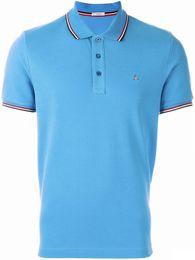 Wholesale Lapel Plaid Shirt - Free Shipping Brand Men Polo Shirts Summer Short Sleeve Casual Polo Shirts Classic Solid lapel Buinss Polo Shirts