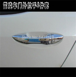 Wholesale Car Door Handle Parts - 8 PCS DIY Car styling NEW ABS Chrome exterior door handle outside the highlight box fit For TOYOTA LEVIN parts accessories