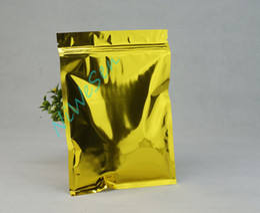 20x30cm, 100pcs / lot sacchetto di chiusura lampo di plastica foglio di alluminio oro, sacchetto di formaggio grattato mylar alluminized risigillabile, cartella di immagazzinaggio dell'alimento della farina da