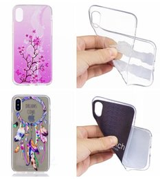 Wholesale Silicone Butterfly Iphone Cases - Flower TPU Soft Case For Iphone X Samsung Galaxy J3 J5 J7 2017 S7 S8 Plus Cartoon Marble Butterfly Smile Feather Dream catcher Skin Cover