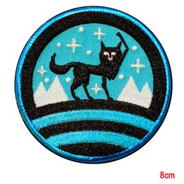 Wholesale Good Rocks - Good Luck Wolf Hit the mosh pit and rock embrodered patches iron on for clothes