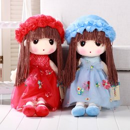 "Wholesale Cotton Dress Styles Western - 5 colors pretty girls pp cotton plush dolls 50cm 19.7"" christmas gifts kids birthday gifts"