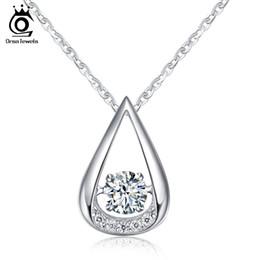 Orsa jóias on-line-ORSA JÓIAS 100% de Prata Esterlina 925 Pingentes Colares para o Encanto do Casamento da SenhoraNoivado Moda Jóias Femininas SN40
