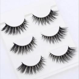 Wholesale False Eyelashes Natural Handmade - Sexy 100% Handmade 3D mink hair Beauty Thick Long False Mink Eyelashes Fake Eye Lashes Eyelash