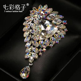 Wholesale Sweater Brooches Korean - Woman headdress hair Colorful plaid (jewelry) brooch brooch pin female Korean fashion sweater all-match accessories H0150