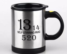 Wholesale Self Stirring Coffee Mug - Stainless Steel Self Stirring Mug Automatic Eletric Mixing coffee Tea cup 6 Colors Availbel